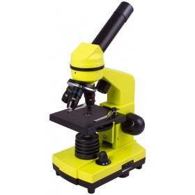 Микроскоп Levenhuk Rainbow 2L PLUS Lime\Лайм представитель Levenhuk в России
