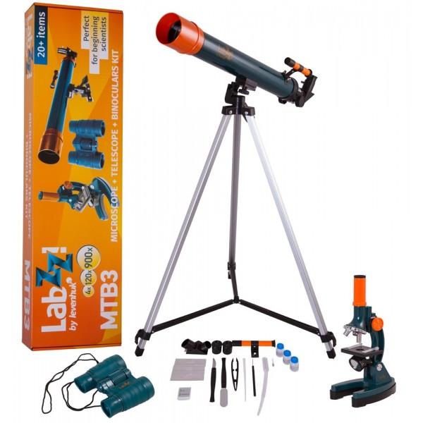 Набор Levenhuk LabZZ MTВ3: микроскоп, телескоп и бинокль официальный дилер Levenhuk