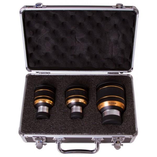 Набор окуляров Sky-Watcher UWA 82° (7 мм, 15 мм, 23 мм) представитель Levenhuk в России