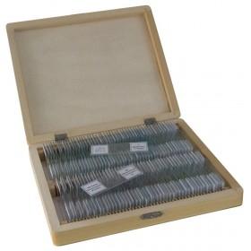Набор микропрепаратов Bresser 100 шт., в кейсе официальный дилер Levenhuk