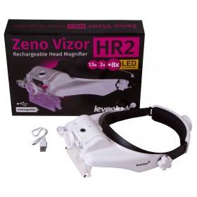 Лупа налобная с аккумулятором Levenhuk Zeno Vizor HR2